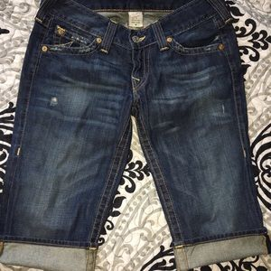 True religion jeans capris pants